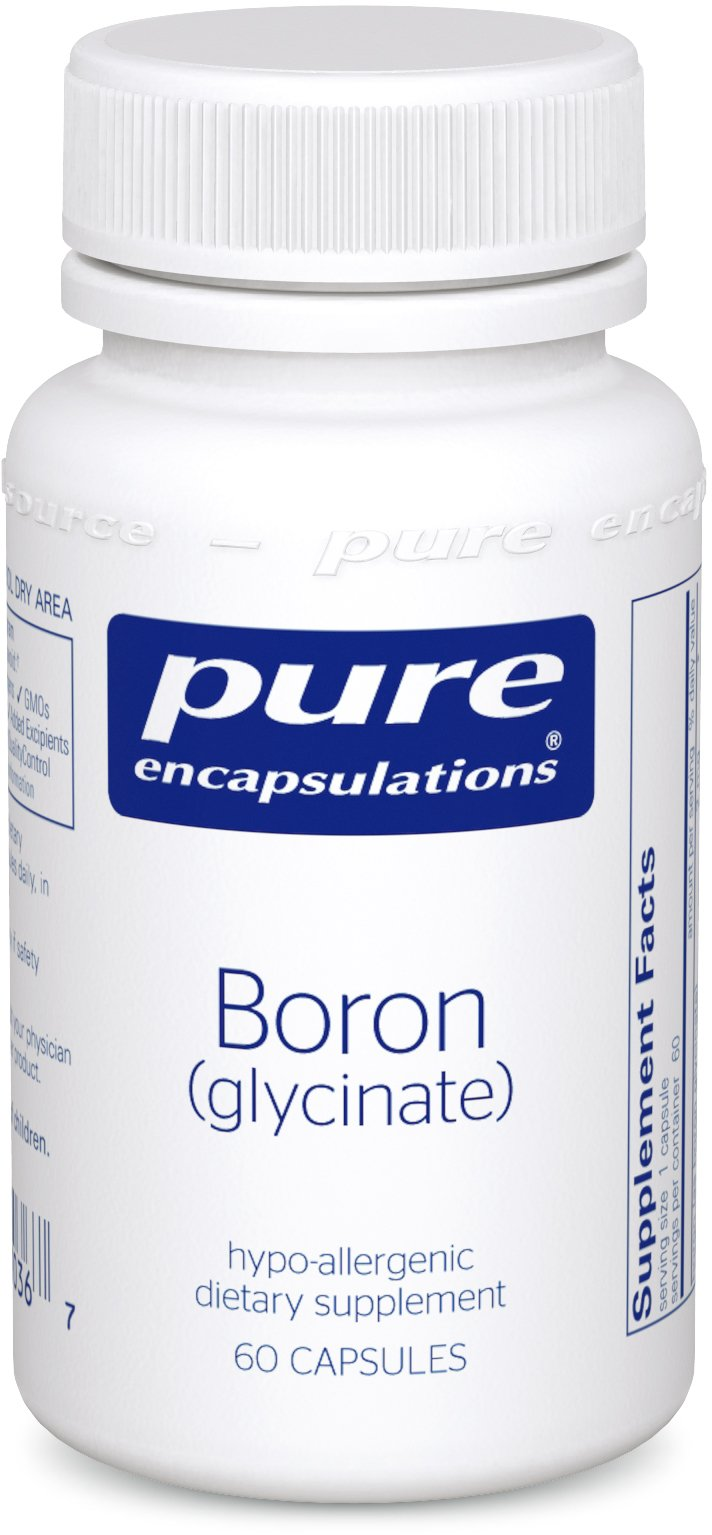 Pure Encapsulations - Boron (Glycinate) - Hypoallergenic Supplement for Healthy Nutrient and Hormone Utilization* - 60 Capsules