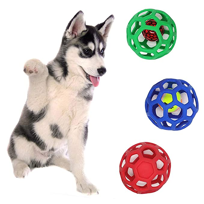 Ordertown Pelota Hueca de Juguete para Perros y Mascotas: Amazon ...