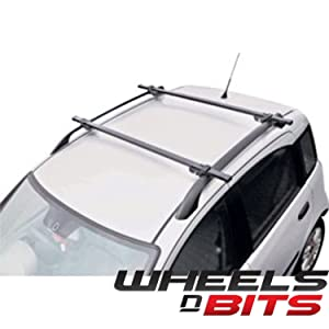 ViVo© Universal Black Locking Car Roof Bars For Cars With Rails/Rack Fitted Lockable