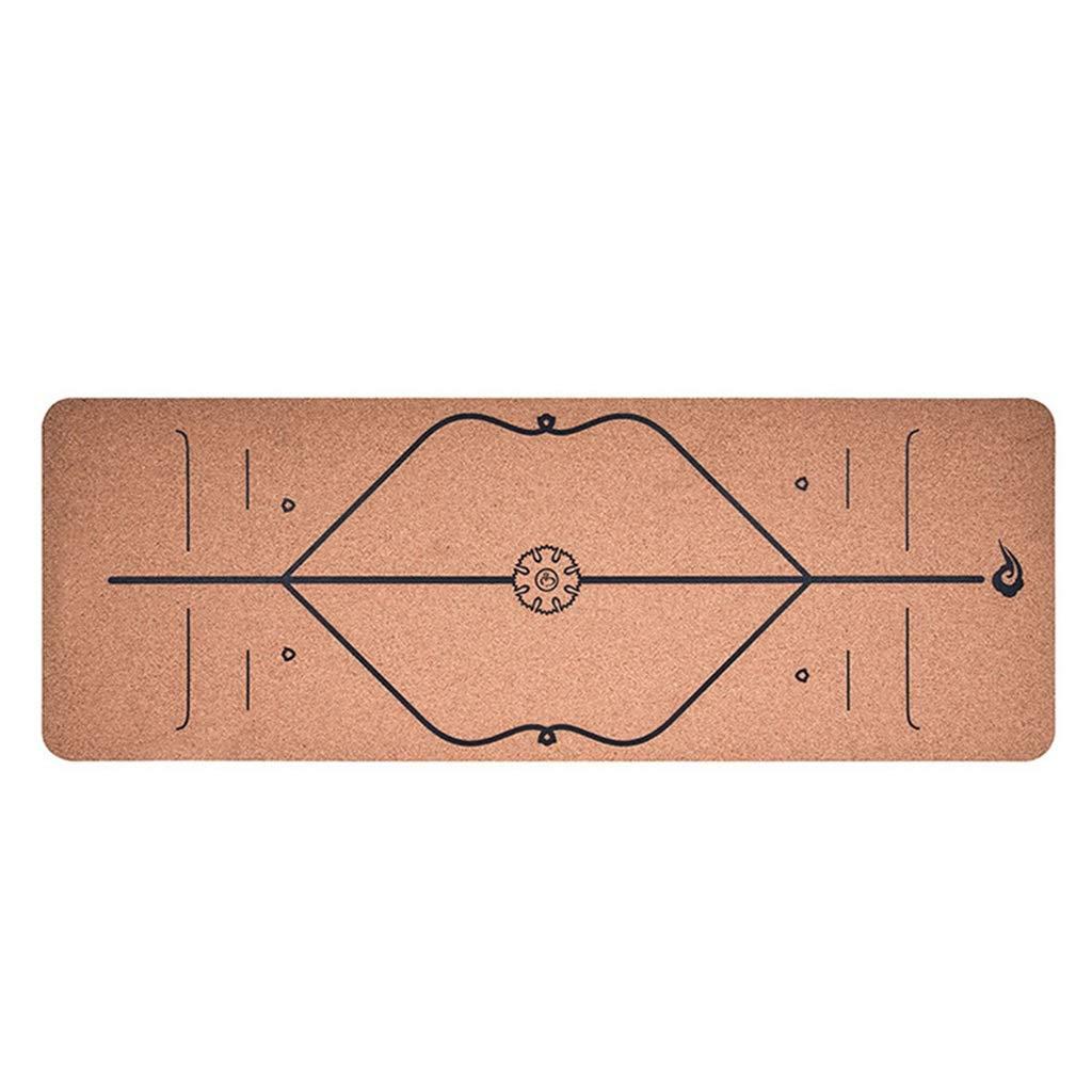 Noir YUN-X Caoutchouc Naturel 183  65cm  6mm   Ligne de Corps d'impression Haute Rebond SBS Tapis de Yoga en liège Tapis de Fitness