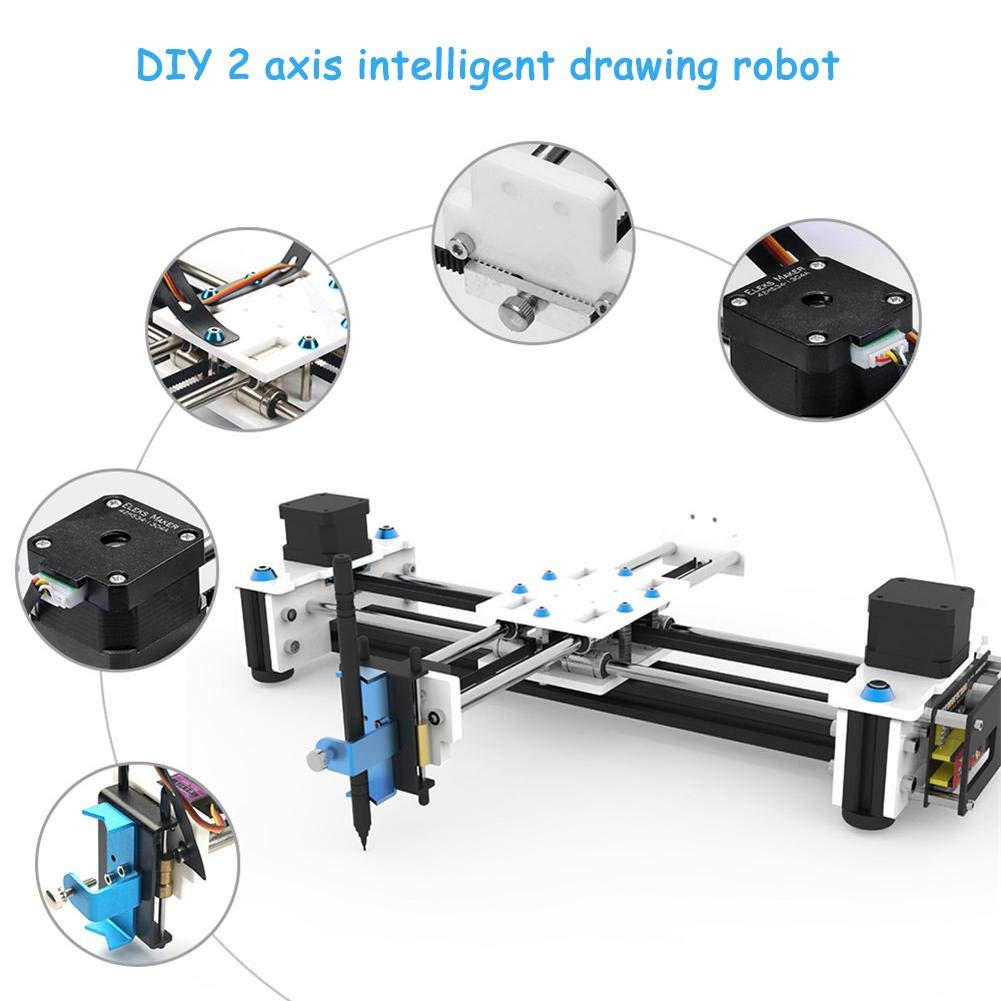 Bulary Drawing Machine Dibujo Robot Plotter Pen Drawing Dibujo Dibujo Dibujo Robot Drawing Machine (Incluye EleksDraw Drawing Machine, Power Adapter, USB Cable, Plug Adapter) 7703b6
