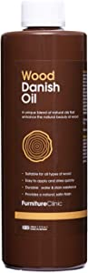 Furniture Clinic Danish Oil   Care for Interior & Exterior Wooden Furniture   Protection for Staining and from Water & Dirt, 17oz/500ml