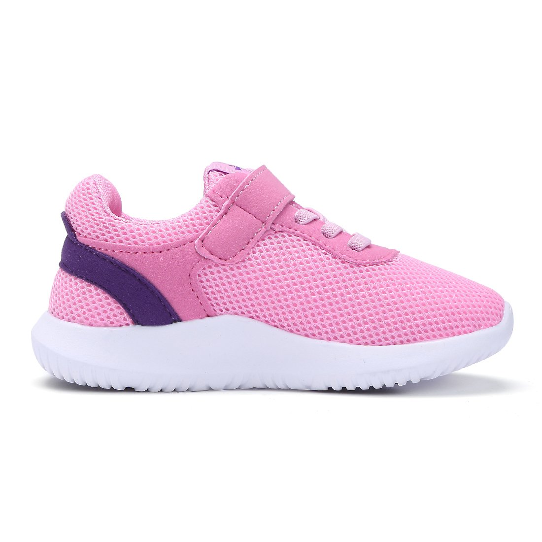 BTDREAM Boy and Girl's Breathable Fashion Sneakers Athletic Outdoor Sports Running Shoes Pink Size 26 by BTDREAM (Image #2)