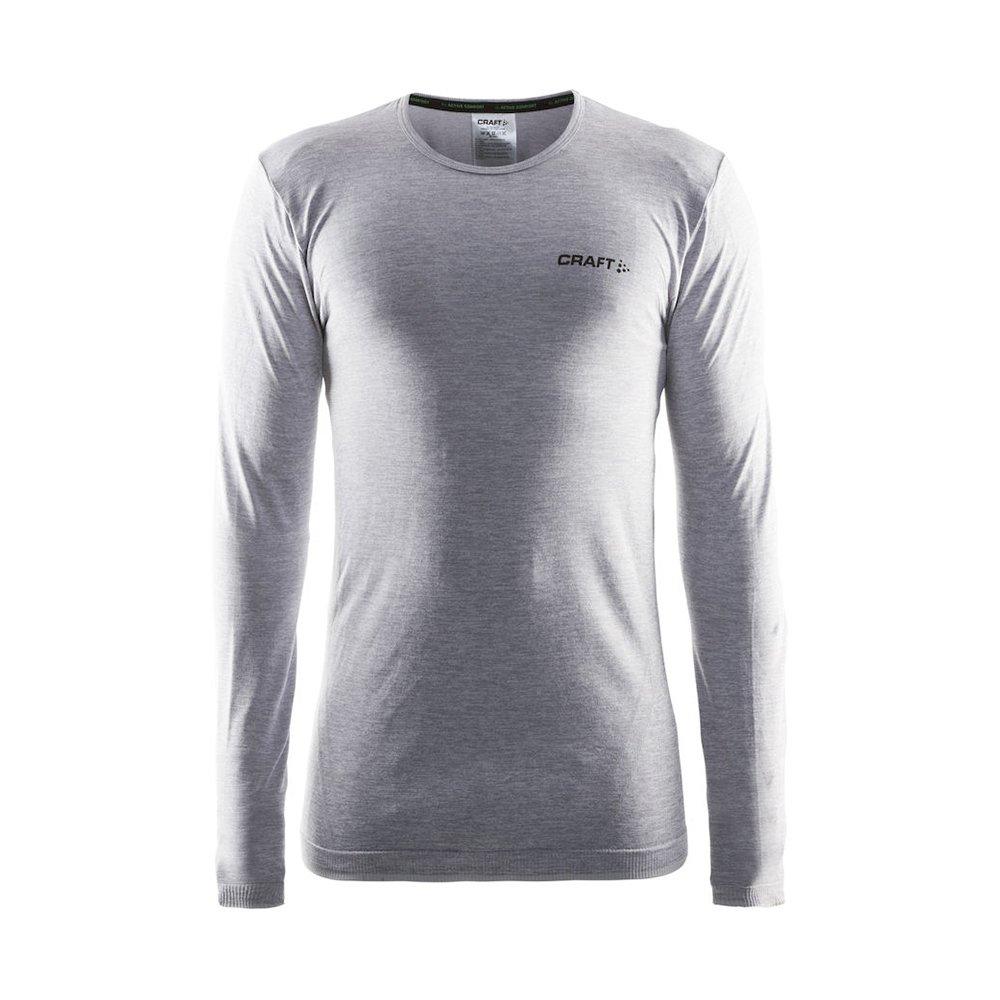 Craft Sportswear Mens Long Sleeve Active Comfort Roundneck Base Layer Seamless Shirt