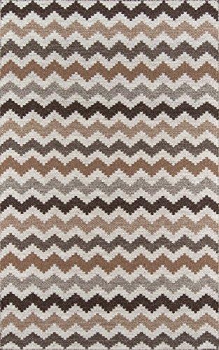 Momeni Rugs MESA0MES-5NAT2030 Mesa Collection, 100% Wool Hand Woven Flatweave Transitional Area Rug, 2' x 3', Natural Brown