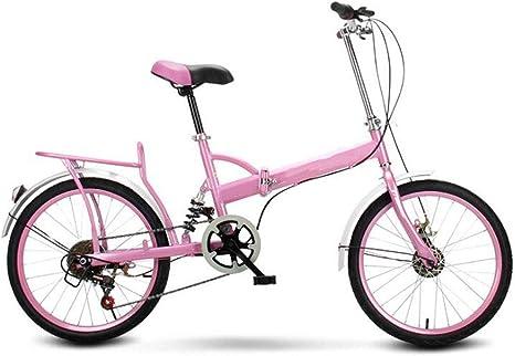 GHGJU Bicicleta Plegable Bicicleta portátil de 20 Pulgadas para ...