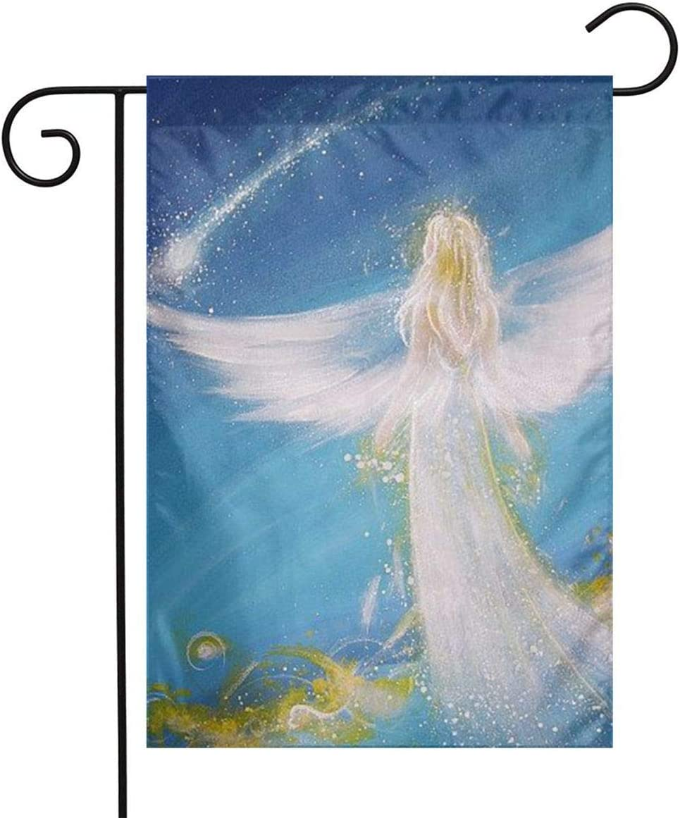 Angel Beautiful Girl Home Garden Flag Vertical Double Sided Spring Summer Decorative Rustic/Farm House Small Decor Yard Flags Set for Indoor & Outdoor Decoration 12x18 Inch