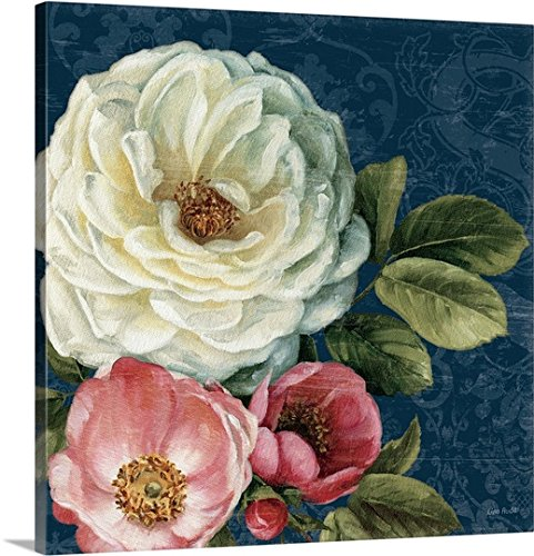Lisa Audit Premium Thick-Wrap Canvas Wall Art Print entitled Floral Damask II on