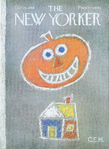 New Yorker cover Martin Halloween pumpkin 10/26 1968 -