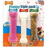 Nylabone Puppy Chew Toy & Treat Puppy Starter Set, Pink Puppy Chew Toys for Girls