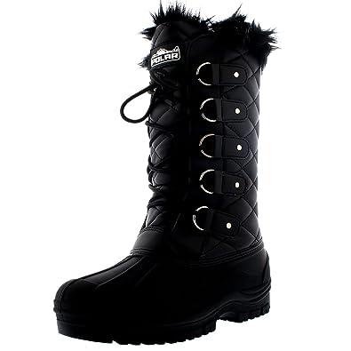 Hoch Schnee Damen Gesteppt Wasserdicht Gehen Polar Stiefel Taktisch Knie Pelz Berg Tall Gefüttert Tl5Ju3KcF1