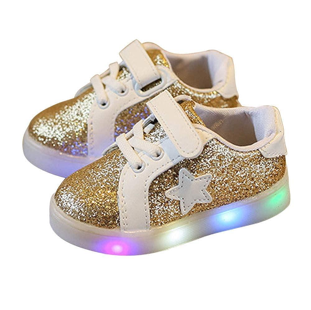 Chaussures Bebe garçon Souple Binggong Baskets Chaussures Enfants Mode Bébé LED Lumineux Enfant Toddler Chaussures Colorées Occasionnels Sneakers
