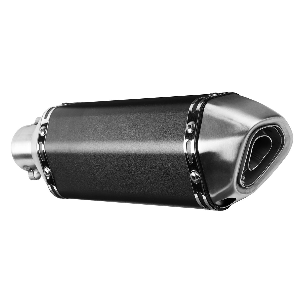 Kungfu Mall 38mm-51mm Motorcycle Exhaust Muffler Pipe with Silencer Slip-On Scooter Universal