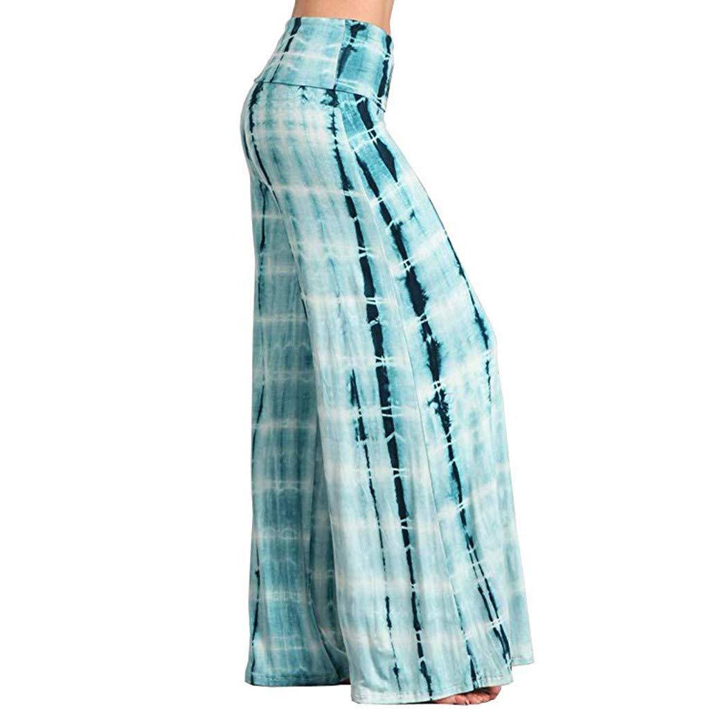 Pantalones de pijama para mujer con pliegues y pierna ancha ...