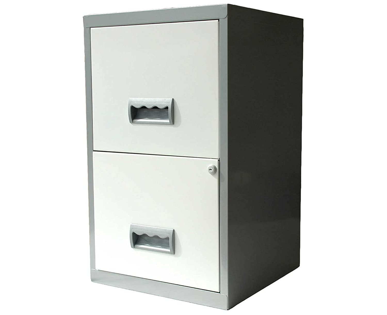 Pierre Henry Combi Filing Unit Cabinet Steel Lockable 2 Drawers A4 W400xD400xH530mm Silver Ref 595026 Pierre Henry UK Ltd 800992 253432