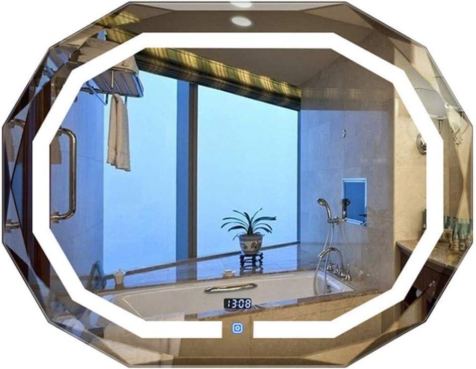 Espejo inteligente para baño, espejo de vanidad ovalado montado en ...