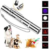 DMY Cat Toys Interactive-7 in 1 Function Chaser Toy-USB Rechargeable-Multi Pattern Funny &…