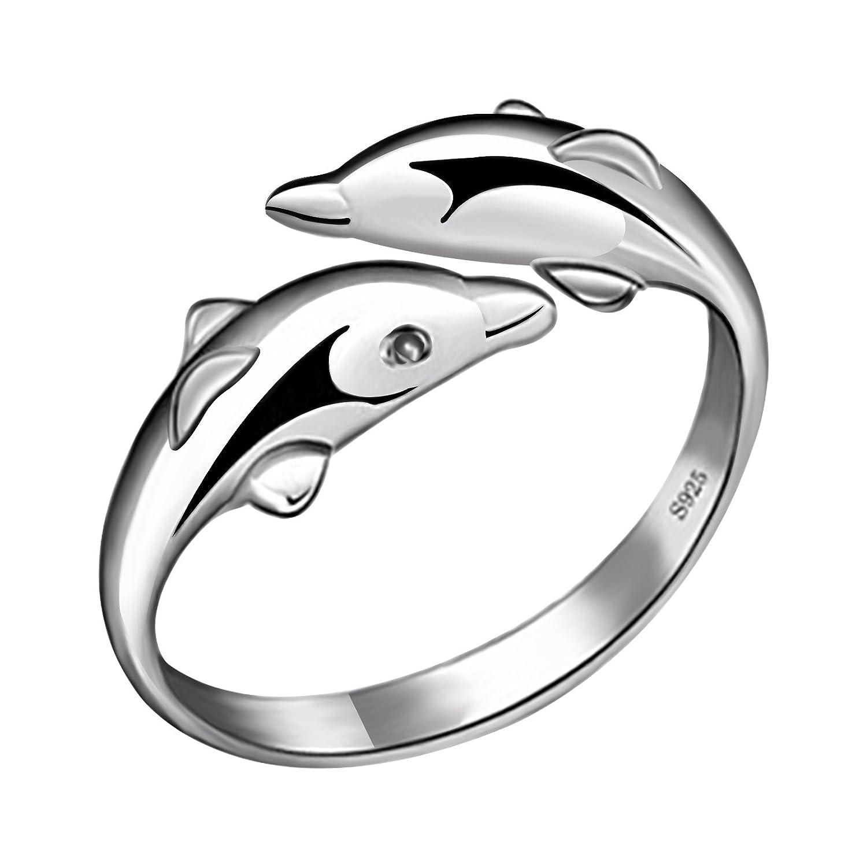 [Entrega en 8-12 días laborables] fasherati chapado en anillos de delfín para niñas