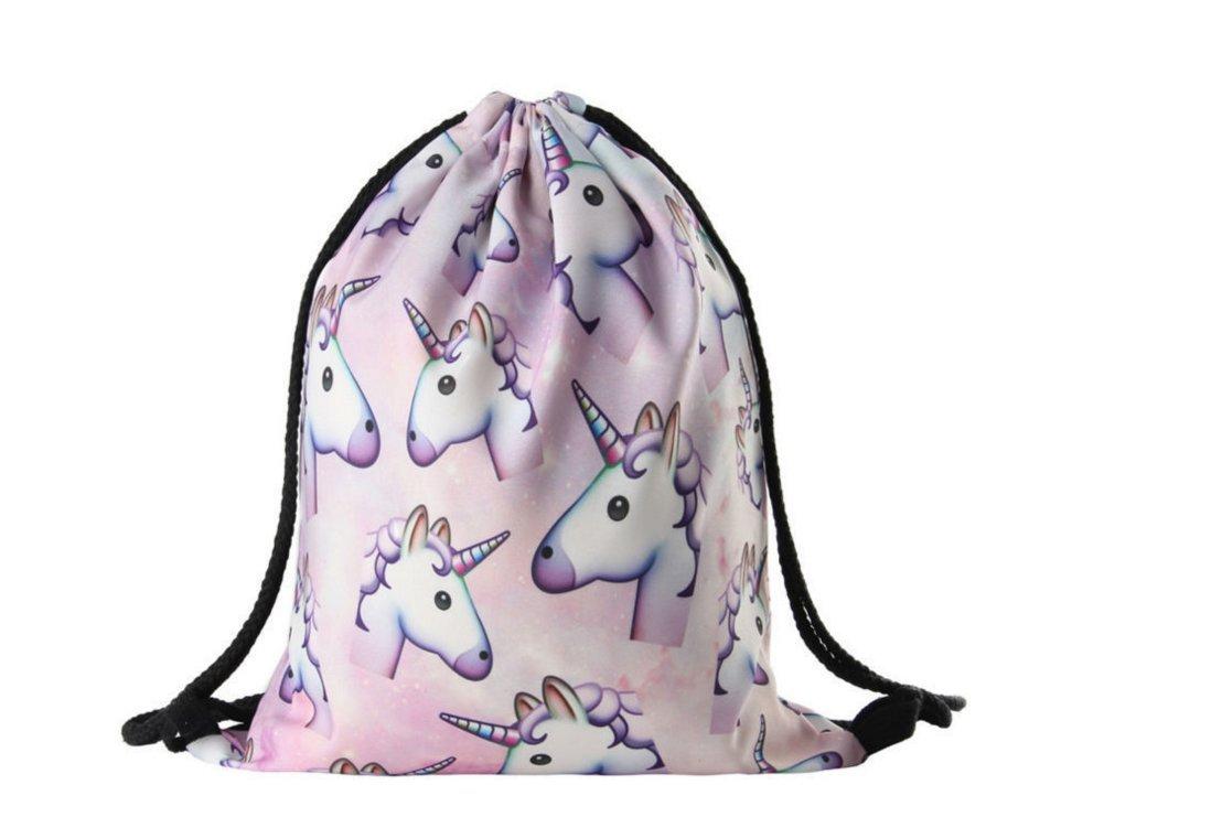 Wayme Unicorn Pattern Drawstring Gym Bag Cute Backpack Gift for Girls Women  Polyester School Travel Shoulder Rucksack  Amazon.co.uk  Sports   Outdoors e8807925fbf73