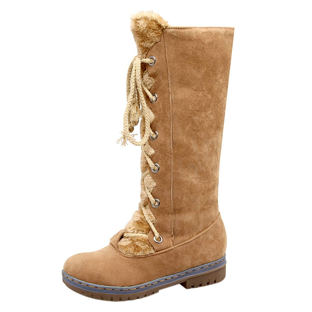 CularAcci Women Leisure Round Toe Combat Boots