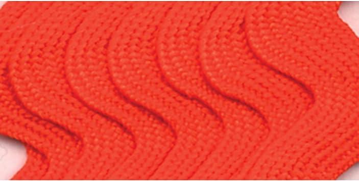Jumbo 2.5-Yard Wrights 117-402-058 Polyester Rick Rack Trim Orange