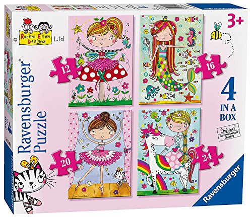 Ravensburger Rachel Ellen Fairytale Favourites, 4 in a Box (12, 16, 20, 24pc) Jigsaw Puzzles