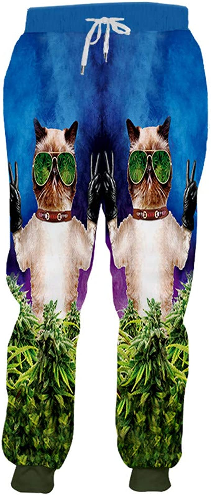 Bridfa Pantalones Jogger para Hombre Pantalones Largos Anime ...