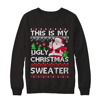 centurytee unisex this is my ugly christmas sweater shirt gildan pullover sweatshirt black - My Ugly Christmas Sweater