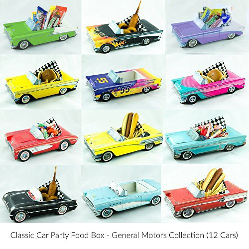 12 Classic Car Party Food Boxes - GM (Food Holder)