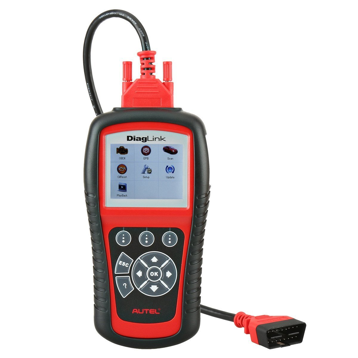 Autel OBD2 Car Code Reader - DiagLink (DIY Version of MD802) Code Scanner with EPB Reset Oil Resets and Full Systems Diagnoses including ABS/SRS/Engine/Transmission for DIY Amateurs and Workshops