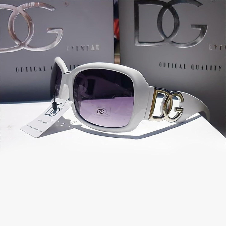 DG Eyewear à Lunettes de Soleil Femme Surdimensionné - Saison 2018 - La Mode UV400 Protection (UVA & UVB) - Nouvelle 2018 Collection (Modele: DG Classique) yVh0ff