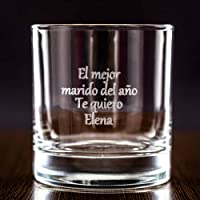 Calledelregalo Regalo para Hombres Personalizable: Vaso de Whisky