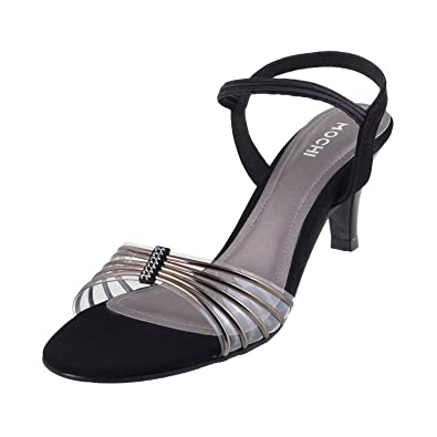 e2f79d69c Mochi Women s Gun Metal Fashion Sandals-8 UK India (41 EU)(40-1800 ...