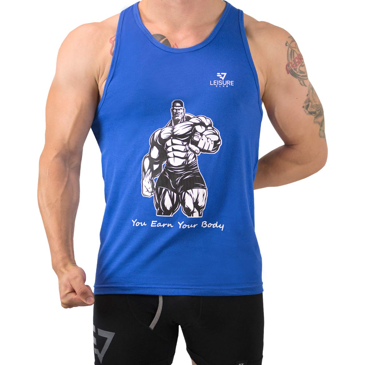 LEISURE CLUB Mens Athletic Vests Training Bodybuilding Gym Vests Motivational Sports Vest