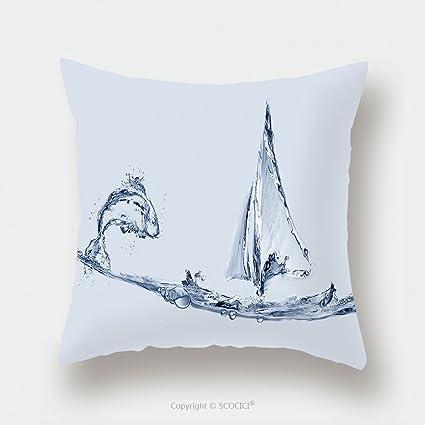 Amazon com: Custom Satin Pillowcase Protector A Blue Water