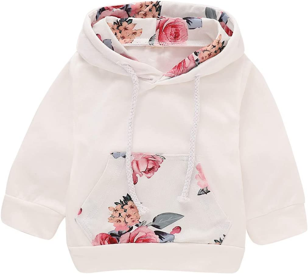 Newborn Kid Baby Girl Clothes Hooded Tops Pants Infant Outfits Sets Tracksuit