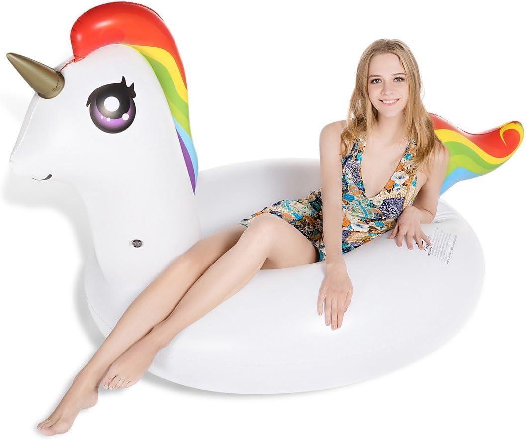 Jasonwell Unicornio Hinchable colchonetas Piscina Flotador para ...