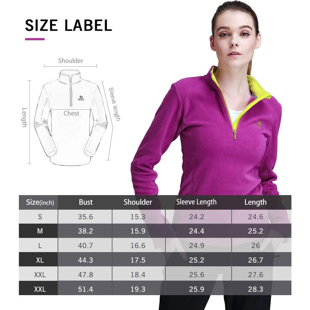 CAMELSPORTS Women//Men Half Zip Polar Fleece Pullover Jacket for Spring Outdoor