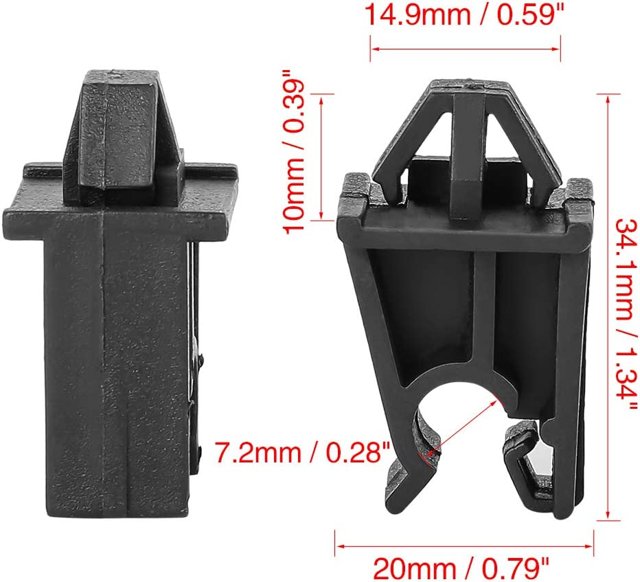 Kunststoff Auto Haube St/ütze Stange Halter Clip 34,1mm X AUTOHAUX 5Stk