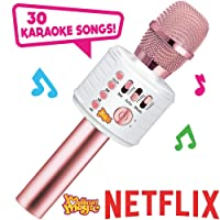 Move2Play Motown Magic Bluetooth Karaoke Microphone, Pink, for Girls, for 4 5 6...