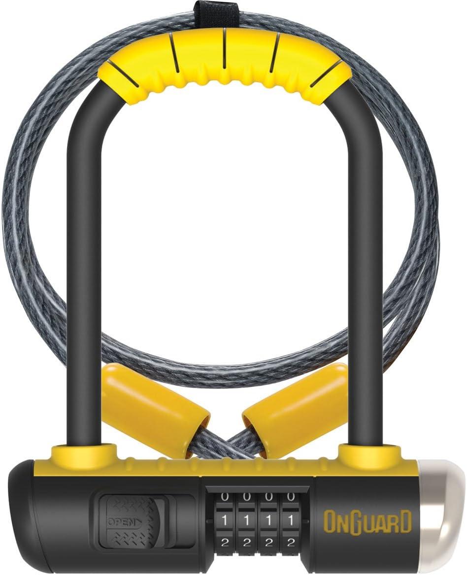 Onguard Bulldog Mini Combo Lock – Yellow, one Size