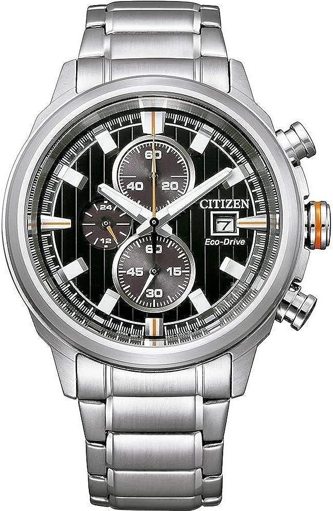 Reloj de Ciudadano slo el Tiempo el Hombre dial Negro de Malla de miln CA0730-85E
