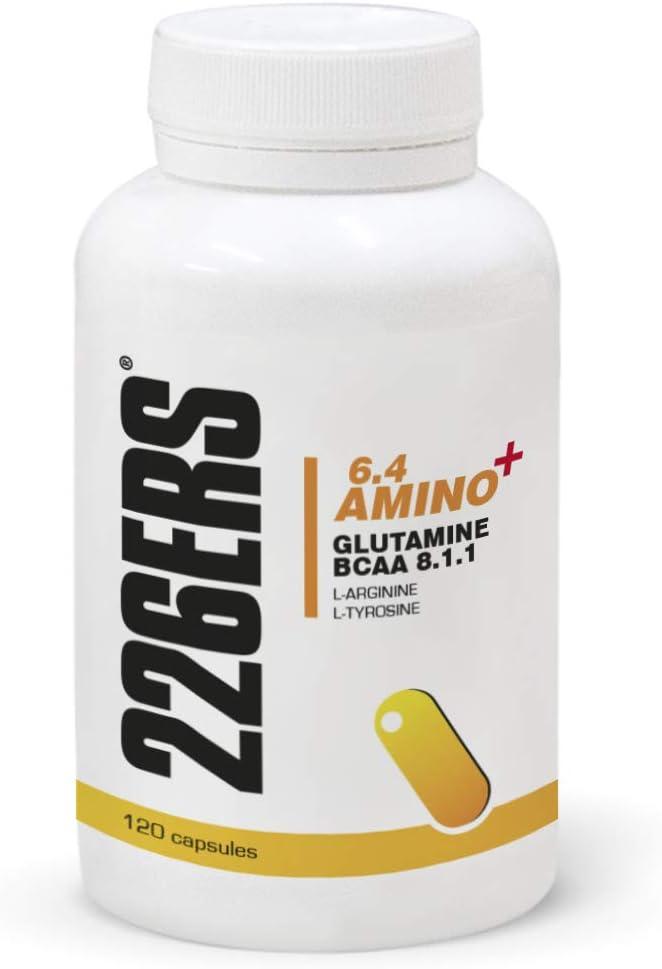 226ERS 6.4 Amino+ Aminoácidos con Glutamina, BCAA 8:1:1, L-Arginina y L-Tirosina - 120 cápsulas