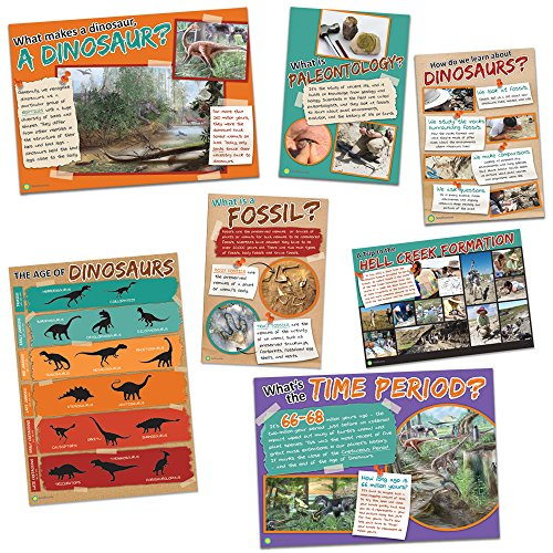- Eureka Smithsonian Dinosaur Facts Bulletin Board Classroom Decorations for Teachers, 7pcs