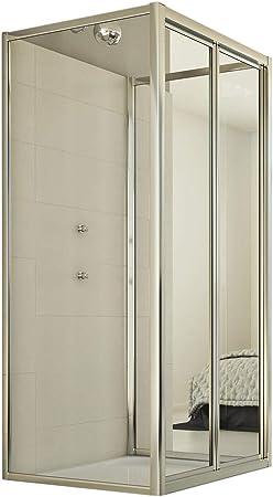 Idralite Mampara de Ducha 3 Lados 80x100x80 Ap. 100 CM H198 Transparente Mod. Urban Trio: Amazon.es: Hogar