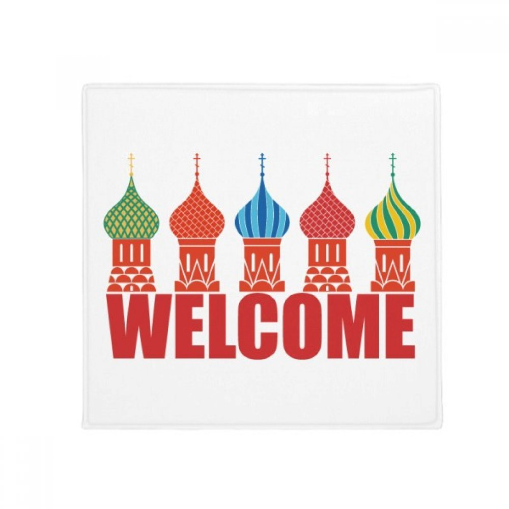 DIYthinker Welcome to Russia Cathedral Buiding Anti-Slip Floor Pet Mat Square Home Kitchen Door 80Cm Gift
