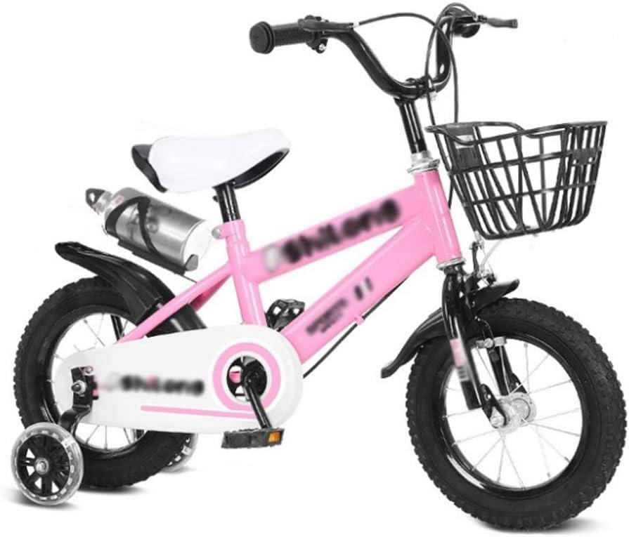 M-YN Bicicleta Niños con Ruedines Niños Niños Biken de Rosa de la ...
