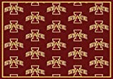 NCAA Team Repeat Rug - Iowa State Cyclones, 7'8'' x 10'9''