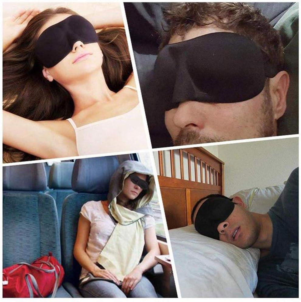 Lezed Antifaz de Dormir de Tejido Suave para mujer 3D Dise/ño M/áscara para Dormir Antifaces para Ojos M/áscara de Dormir con Banda el/ástica Ajustable Antifaces para para Acostarse Viajar 6 Piezas