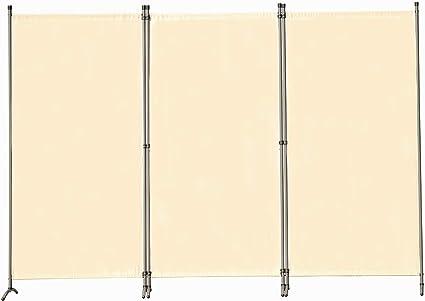 Angel Living Biombo Grande de 3 Paneles, Decoración Elegante, Separador de Ambientes Plegable, Divisor de Habitaciones, 250X170 cm (Beige): Amazon.es: Hogar